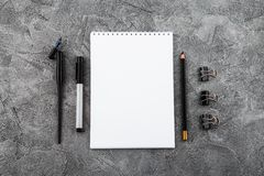Artist home office desk workspace frame paint brushes and tools on gray background. Flat lay, top view creative minimal. Mock up template. Mockup Download royalty free stock photos