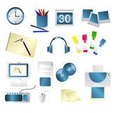 Artist icons. Office icon illustrations for an artist, designer, illustrator, or graphic designer Royalty Free Stock Images