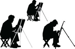 Artist -. Illustration of paint artist Royalty Free Stock Photo