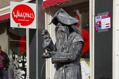 Artist imagines Wizard during world championships living statues in Arnhem. Arnhem, Netherlands - September 28, 2014: Artist imagines Wizard during world stock image