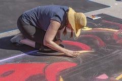 Lake Worth, Florida, USA Fab 23-24, 2019 25Th Annual Street Painting Festival stock photo