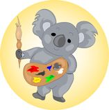 Artist koala Stock Photography