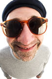 Artist large nose close up beret hat Stock Photo