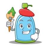 Artist liquid soap character cartoon. Vector illustration Stock Image