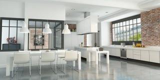 Artist loft kitchen Royalty Free Stock Image