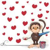 Artist Monkey Royalty Free Stock Photo