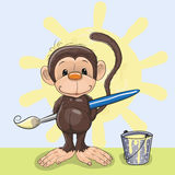 Artist Monkey Royalty Free Stock Image