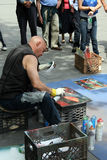 Artist in New York City stock image