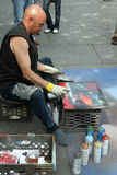 Artist in New York City royalty free stock images