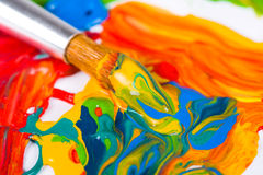 Artist paint brush Royalty Free Stock Images
