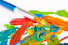Artist paint brush Stock Photos
