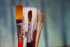 Artist paint brush abstract Stock Images