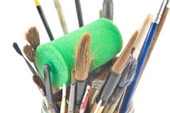 Artist paint brush assortment Stock Image