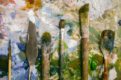 Artist paint brush Stock Image