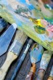 Artist paint brush Stock Photography