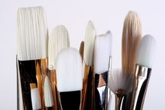 Artist Paint Brushes stock image