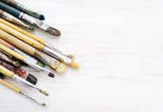 Artist paint brushes closeup Stock Image