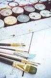 Artist paint brushes Stock Image