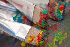 Artist Paintbrushes Royalty Free Stock Photography