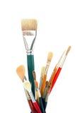 Artist paintbrushes royalty free stock photo