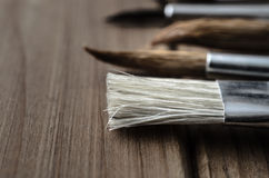 Artist Paintbrushes Side View Royalty Free Stock Images