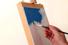 Artist painting A Stock Photography