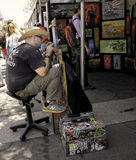 Artist Painting, ArtWalk, San Diego Stock Image