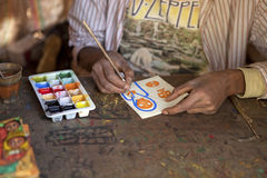 An artist painting, Ethiopia Stock Photos