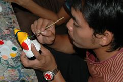 Artist painting sculpture Pattaya Stock Images