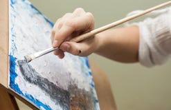 Artist paints Stock Photos