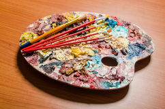 The artist palette in art concept Royalty Free Stock Photo