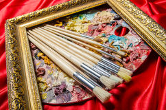 The artist palette in art concept Stock Image