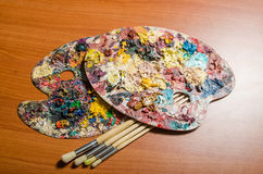 The artist palette in art concept Stock Photo