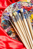 Artist palette in art concept Royalty Free Stock Images