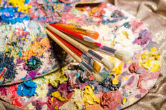 The artist palette in art concept Royalty Free Stock Image