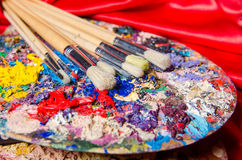 The artist palette in art concept Stock Photography