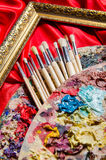 The artist palette in art concept Royalty Free Stock Photography