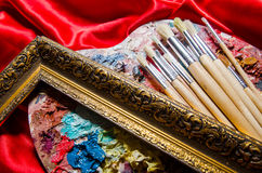 The artist palette in art concept Stock Images