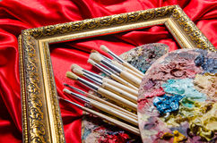 The artist palette in art concept Stock Photos