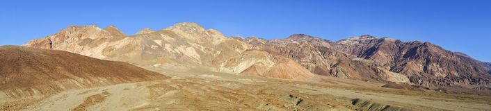 Artist Palette Wide Panoramic Landscape Death Valley National Park Royalty Free Stock Photo