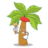 Artist palm tree character cartoon Stock Images