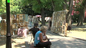 The artist in a park in the center of Varna, Bulgaria. Varna was founded by the ancient Greeks as the sea gate of the Bulgarian kingdom. Today Varna - the third stock video