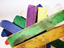 Artist pastels. Pastel colours for Stock Images