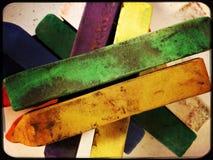 Artist pastels. Pastel colours for artists Stock Photos