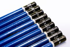 Artist pencils. Close-up of artist pencils Royalty Free Stock Images