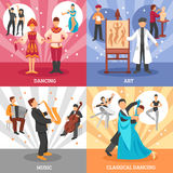 Artist People Concept Icons Set Stock Photography