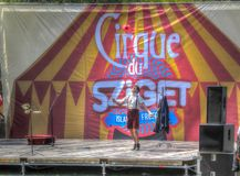 Artist performing on an open air stage at Sziget royalty free stock photos