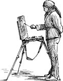 Artist on the plein air Royalty Free Stock Photo