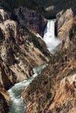 Artist Point Waterfall Yellowstone Stock Photography