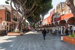 Artist Quarter in Puebla royalty free stock photography